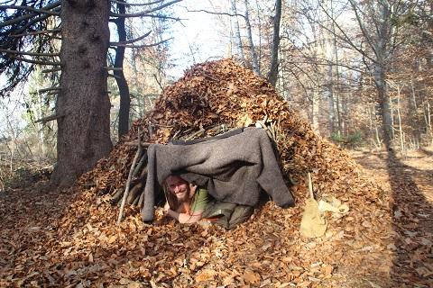 Wildnisbasis-Kurs Laubhütte
